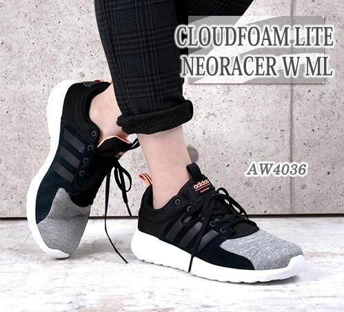 ขายดีมาก! Adidas รองเท้า ออกกำลังกาย ผู้หญิง อาดิดาส Lite Racer Black Grey น้ำหนักเบามาก สวมใส่สบาย พื้นรองรับแรงกระแทกดีมาก ของแท้100% ส่งไวด้วย kerry!!!