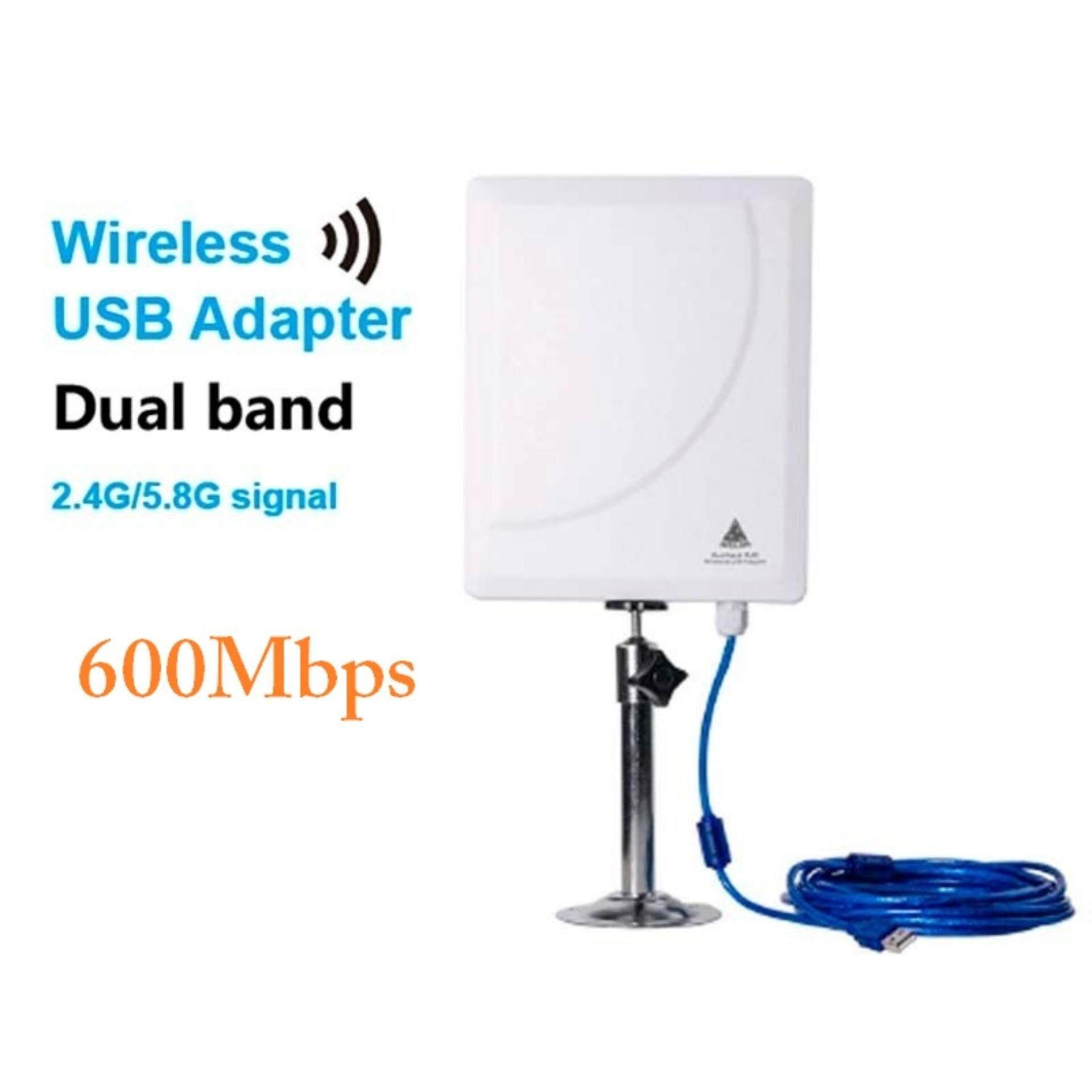 Usb Wifi Adapter 600mbps รองรับ 2.4ghz ,5ghz High Power ตัวรับสัญญาณ Wifi ระยะไกล สัญญาณแรงสุดๆ (n519d).