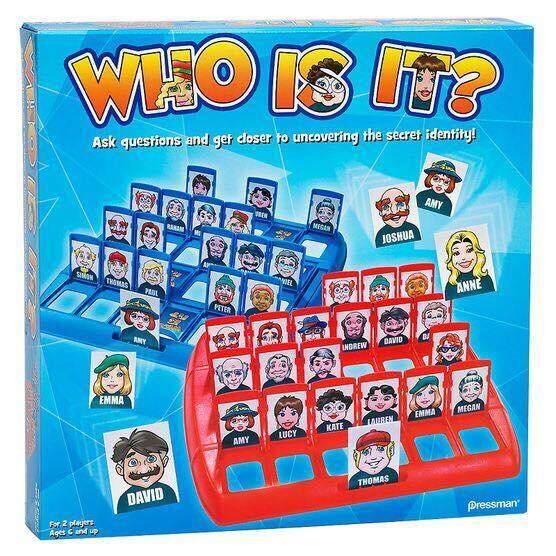 เกมส์ Who Is It?  เล่นได้ทั้งครอบครัวช่วยฝึกความจำ เหมาะสำหรับเด็กอายุ 5-6 ขวบขึ้นไป .