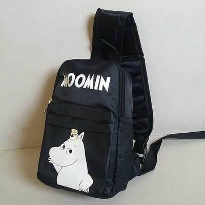 ลดสุดๆ ส่งฟรี Kerry !!! ขาย  เป้คาดอก เป้เฉียง เป้สะพายเฉียง Sholder bag มูมิน Moomin สีดำ