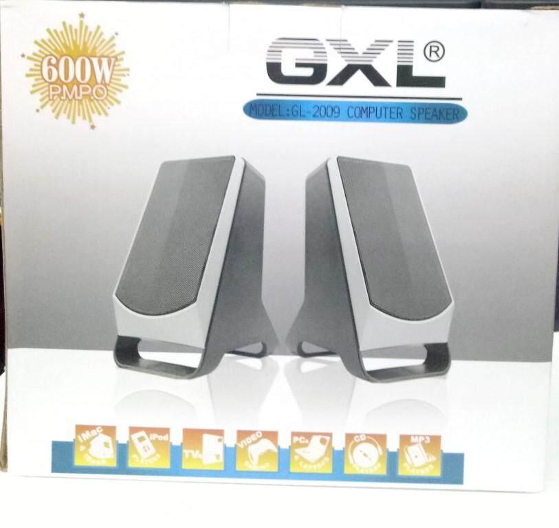 Gxl Gl-2009 ลำโพง คอมพิวเตอร์ โน๊ตบุ๊ค พกพา เสียงดัง เสียงดี (ปุ่มควบคุมเสียงดัง/เบา ได้) ดีไซ์สวยทันสมัย - สีดำ.