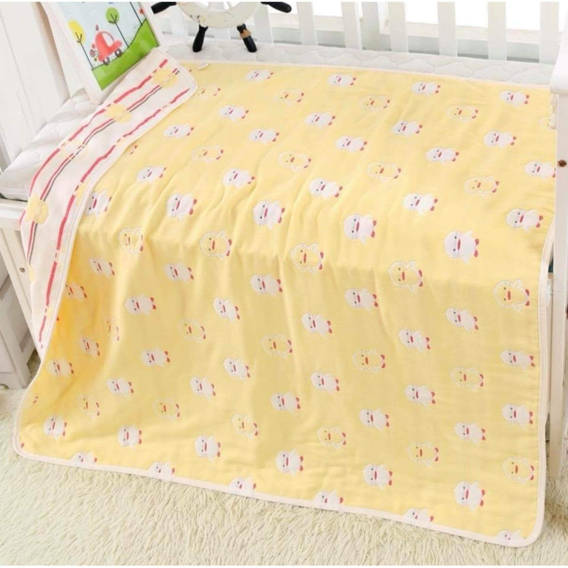 ผ้าห่มผ้าฝ้ายญี่ปุ่น สำหรับเด็กทอลายทั้งผืน ลายลูกเจี๊ยบ.