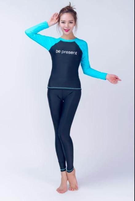 ชุดว่ายน้ำแขนยาว+กางเกง มีซับใน ไซร์ M-4xl. 2299 Bepresent Shop By Bepresent Shop.