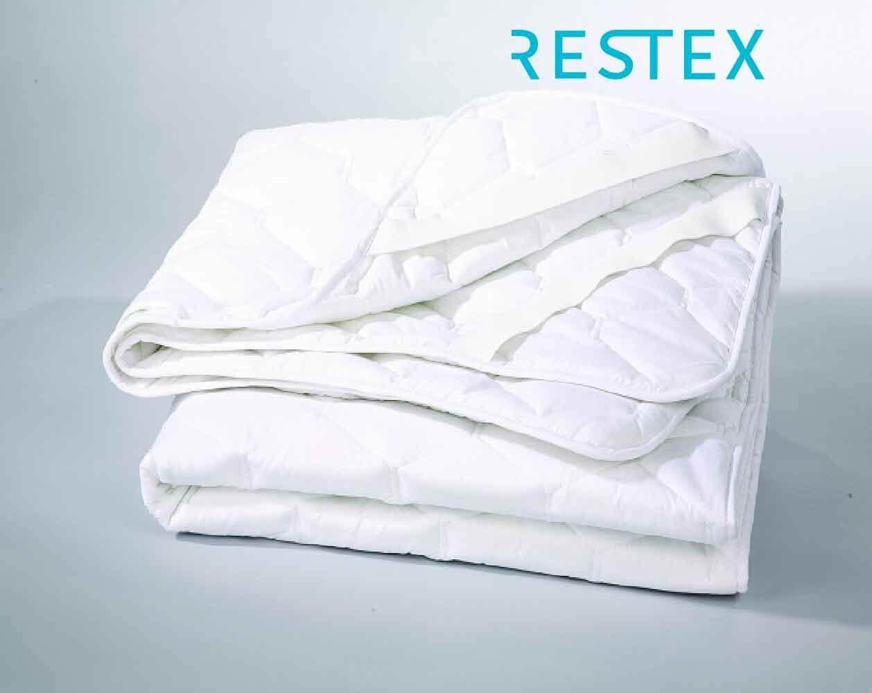 Restex ผ้ารองกันเปื้อน คุณภาพโรงแรม 5 ดาว ขนาดที่นอน 5 ฟุต ใย Hollow Filled กันไรฝุ่น พร้อมยางรัดมุม ขนาดที่นอน 5 ฟุต By Restex.