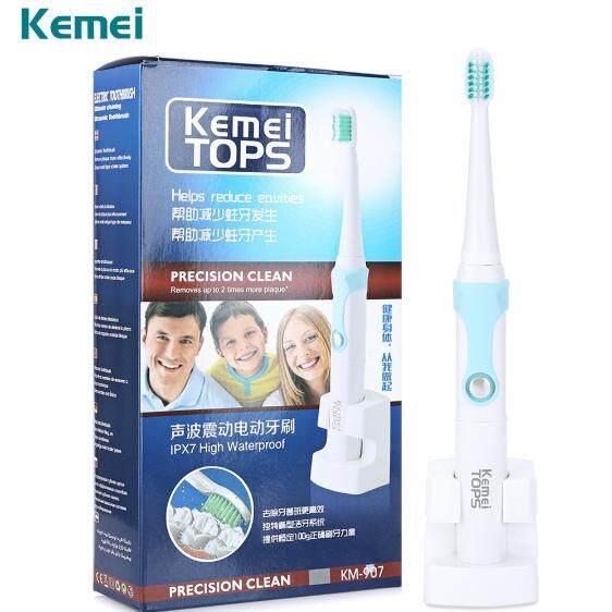 กระเป๋าเป้ นักเรียน ผู้หญิง วัยรุ่น ยโสธร Kemei แปรงสีฟันไฟฟ้า แปรงสีฟันไฟฟ้าไร้สาย แปรงสีฟันคนจัดฟัน ระบบอัลตร้าโซนิค แถมหัวแปรง 3 หัว แถมฟรี หัวแปรง 4 หัว Rechargeable ultrasonic waterproof electric toothbrush