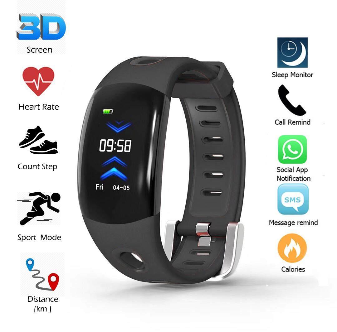Gi Active Bracelet 3d Ui นาฬิกาออกกำลังกาย การแสดงผลแบบ 3d  กันน้ำ วัดการเต้นหัวใจ นับก้าว ระยะทาง แคลอรี่ สั่งการถ่ายรูป แจ้งเตือนการโทร,sms,line เชื่อมต่อบลูธูท4.0 มีรับประกันศูนย์ไทย By G-Item.