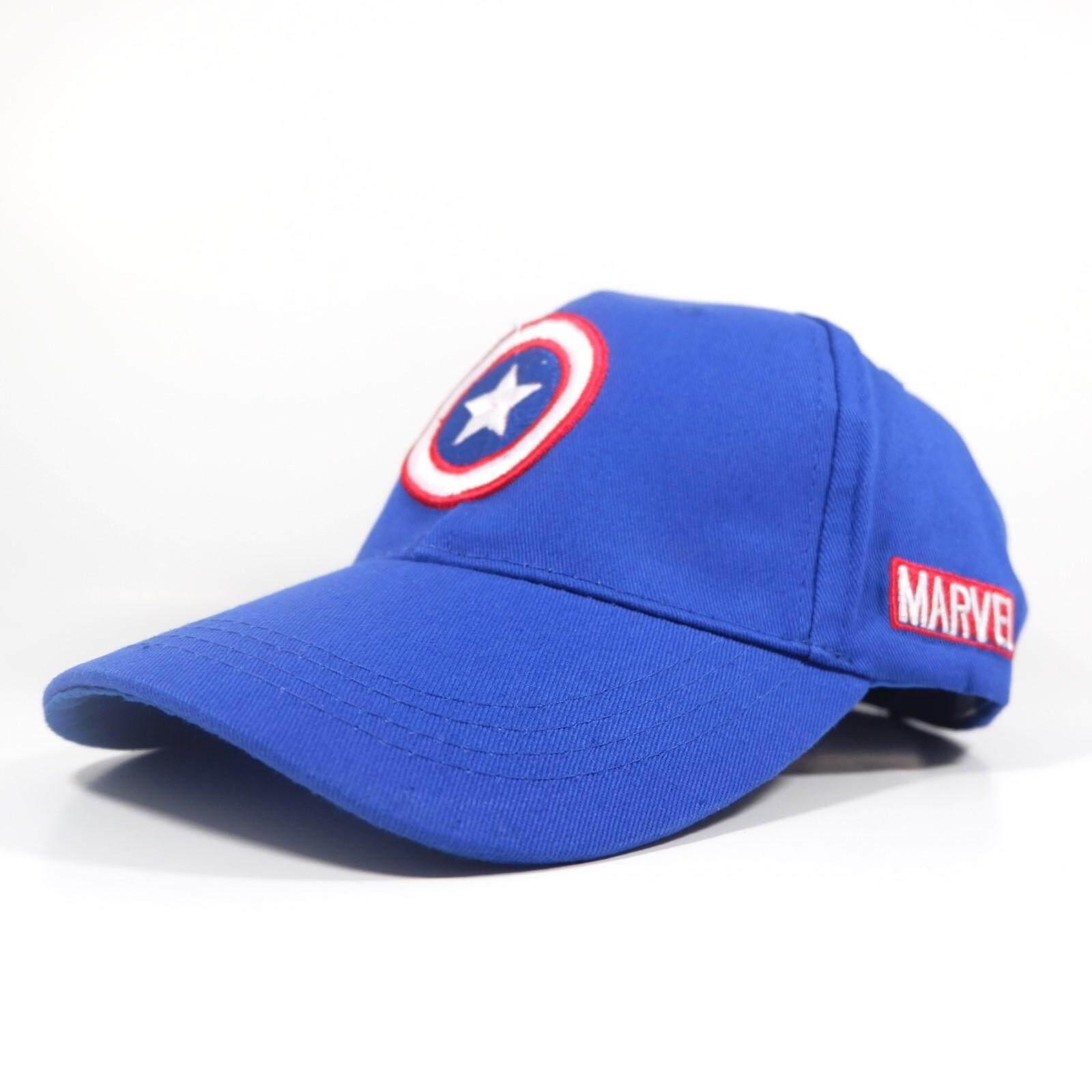 หมวกแก๊ปปีกโค้งปักลาย Captain America.