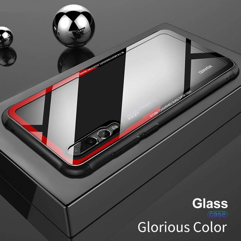 Googlehitech Huawei Nova 3i / Huawei Nova 3i Hybrid กรอบโทรศัพท์ซิลิโคนขนาด นิ้วกรอบกระจกนิรภัยสำหรับฝาครอบป้องกันกรณีหัวเว่ย Forhuawei Nova 3i / Huawei Nova 3i.
