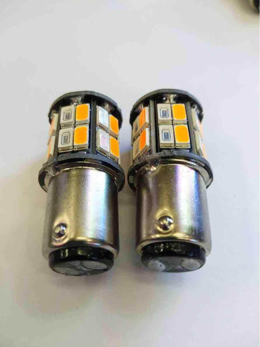 ไฟหรี่-เลี้ยว 2 จุด D-Max เก่า หรี่ไอคบลู-เลี้ยวส้ม จำนวน 1 คู่ By Note Led Shop.