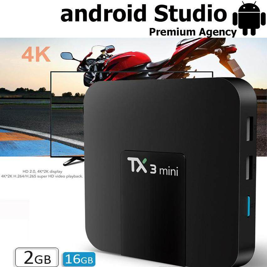 สุรินทร์ Newest TX3 Mini Authentic  Google Android 7.1.2 Os Smart Android TV Box with 4K H.265 1080P Video Streaming Amlogic S905W IPTV  Netflix