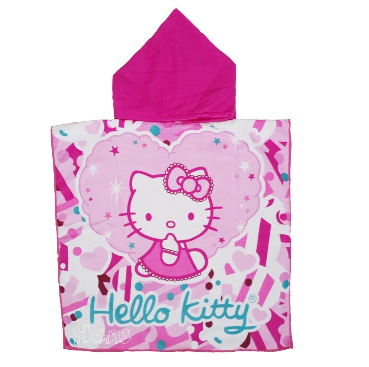 Kitty-เสื้อคลุมอาบน้ำ ว่ายน้ำ เด็ก ขนาด 60x120 ซม..