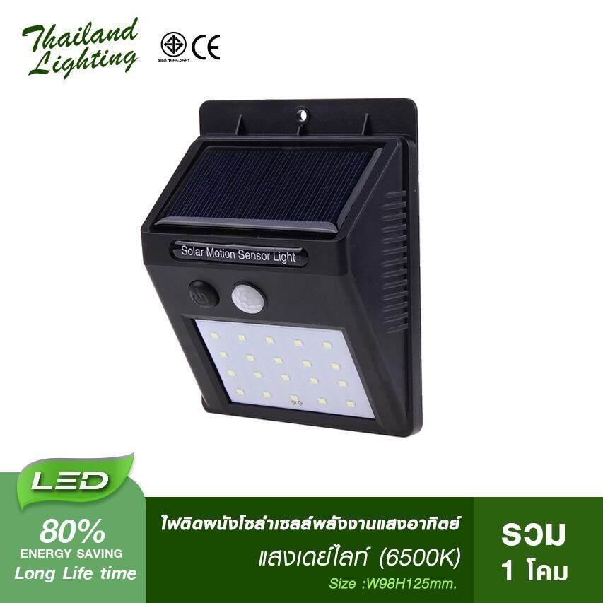 ไฟติดผนังโซล่าเซลล์พลังงานแสงอาทิตย์ Solar Wall Light Thailand Lighting By Thailand Lighting.