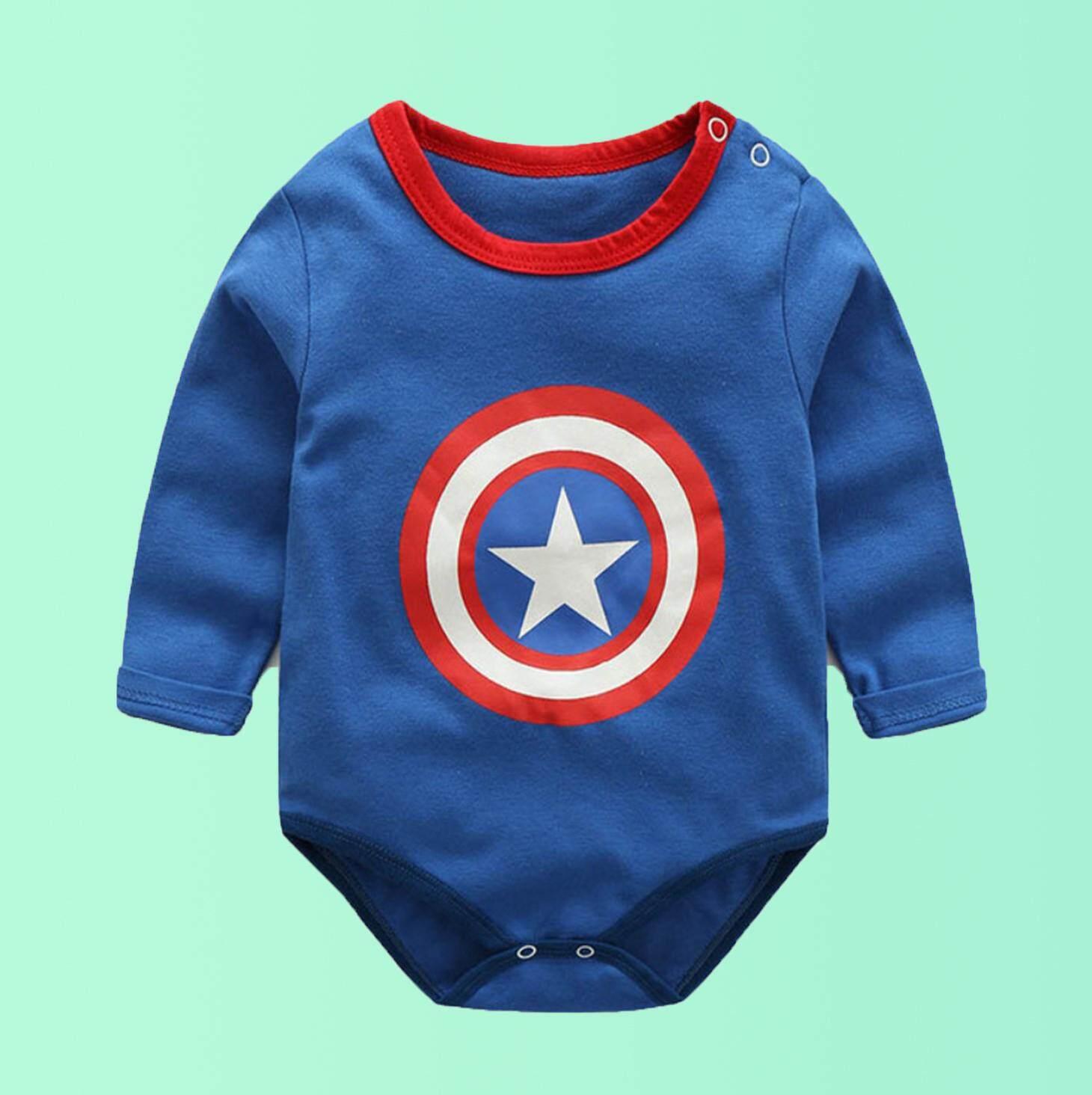 บอดี้สูทเด็ก Captain สีน้ำเงิน .