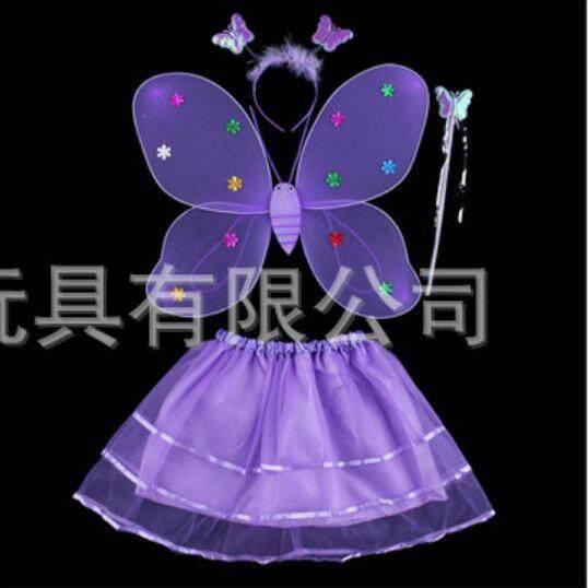 4 ชิ้น/เซ็ตนางฟ้า / เจ้าหญิง  ปาร์ตี้ชุดปีกนก /ปีกผีเสื้อ.