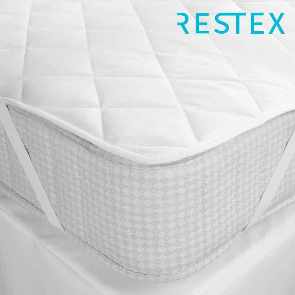 Restex ผ้ารองกันเปื้อน คุณภาพโรงแรม 5 ดาว ขนาดที่นอน 6 ฟุต ใย Hollow Filled กันไรฝุ่น พร้อมยางรัดมุม By Restex.