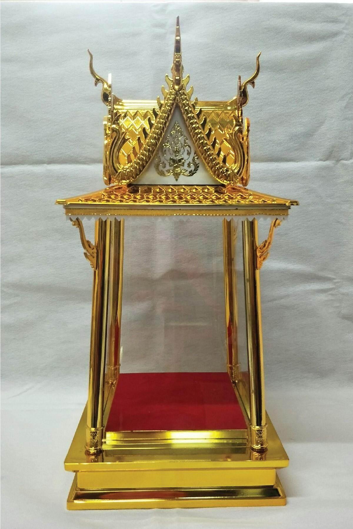 ตู้ครอบพระทรงบุษบก สีทอง(ไม่รวมพระ ).