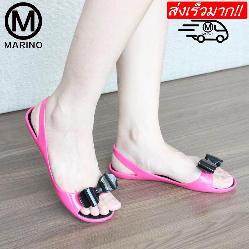 Marino รองเท้า รองเท้าแตะ รองเท้าลำลองผู้หญิง รองเท้ารัดส้นแฟชั่น  No.a048.