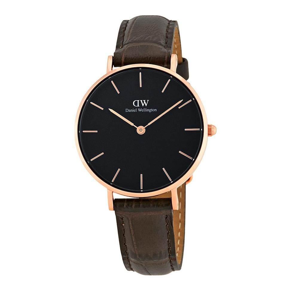 ขาย ซื้อ Daniel Wellington Dw00100170 Classic Petite York Black Dial 32Mm นาฬิกาข้อมือ แฟชั่น ผู้หญิง สายหนัง สีทองแดง Black Dial Case Leather Strap