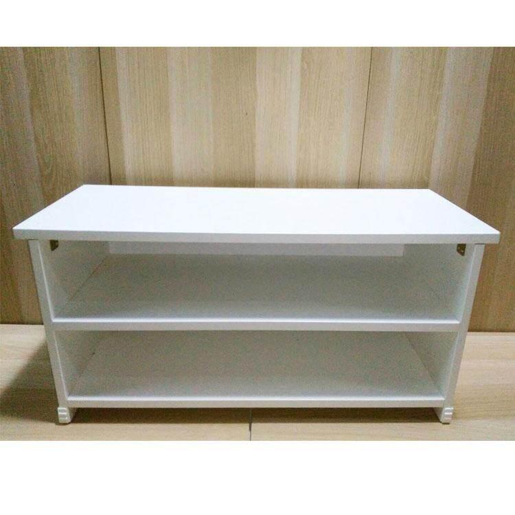 ชั้นวางทีวี Lcd ขนาดเล็ก สำหรับทีวีไม่เกิน 32 นิ้ว (สีขาว) By Panshop.