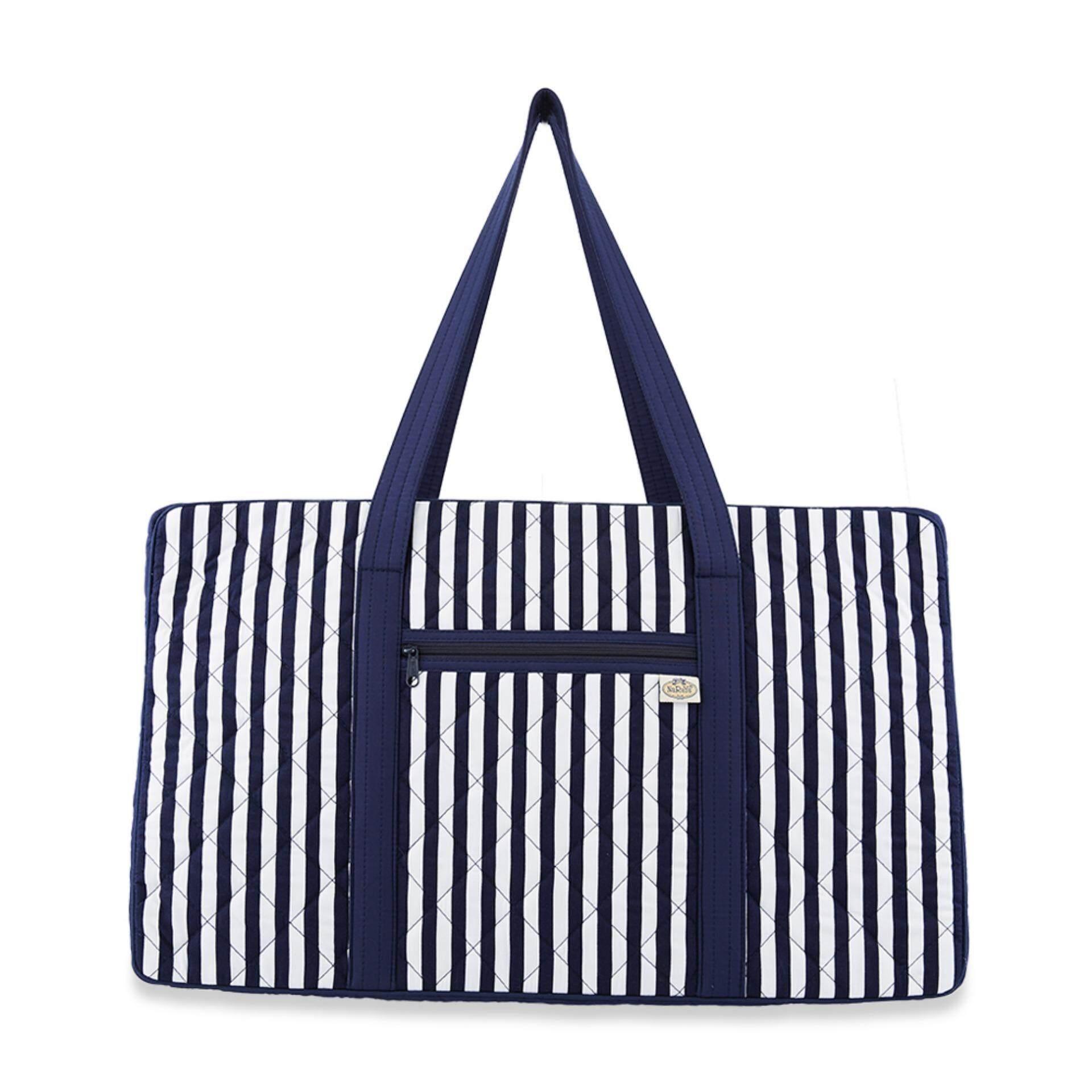 กระเป๋าเดินทางขนาดเล็ก NaRaYa Stripes Quilted