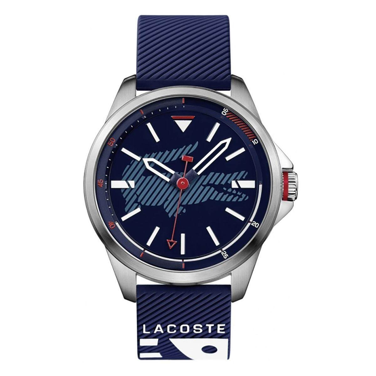 Lacoste MOTION Blue Stainless-Steel Case Silicone Strap Mens 2010940