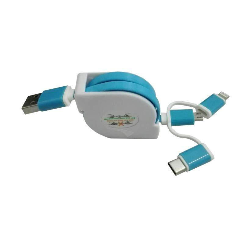 Thaivasion สายชาร์จ/เชื่อมต่อข้อมูล Micro Usb ม้วนเก็บได้.