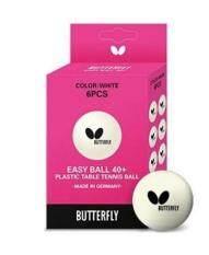ลูกปิงปอง BUTTERFLY  รุ่น Easy Ball 40+ สีขาว (6ลูก)