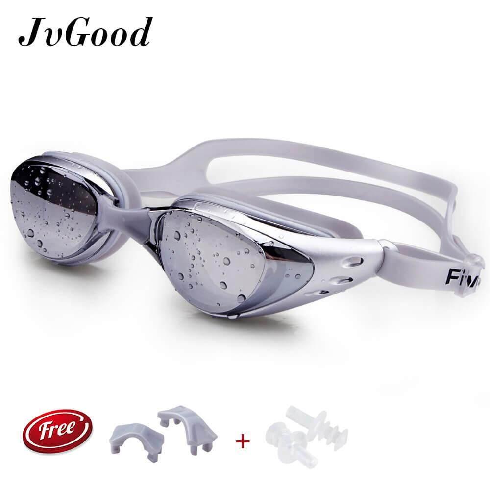 Jvgood Mirrored ซิลิโคนแว่นตาว่ายน้ำแว่นตาดำน้ำ 100% U.v. ป้องกัน, Anti-Fog, Anti-Shatter, กันน้ำแก้ว ,