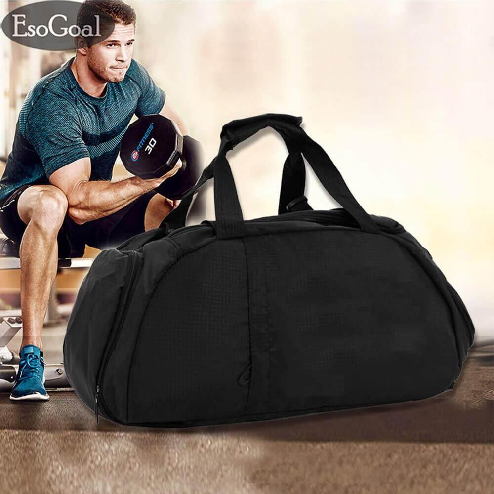 Esogoal กระเป๋ายิม, 3 - Way กระเป๋าใส่เสื้อผ้ากีฬากระเป๋าถือเดินทางกระเป๋าเป้สะพายหลัง/กระเป๋าสะพายไหล่รวมถึงช่องใส่รองเท้า - Intl.