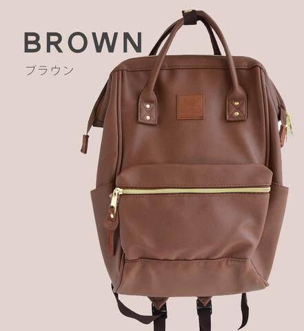 สินเชื่อบุคคลซิตี้  นราธิวาส กระเป๋า Anello PU Leather Backpack (Mini Size) - Japan Imported แท้ 100%