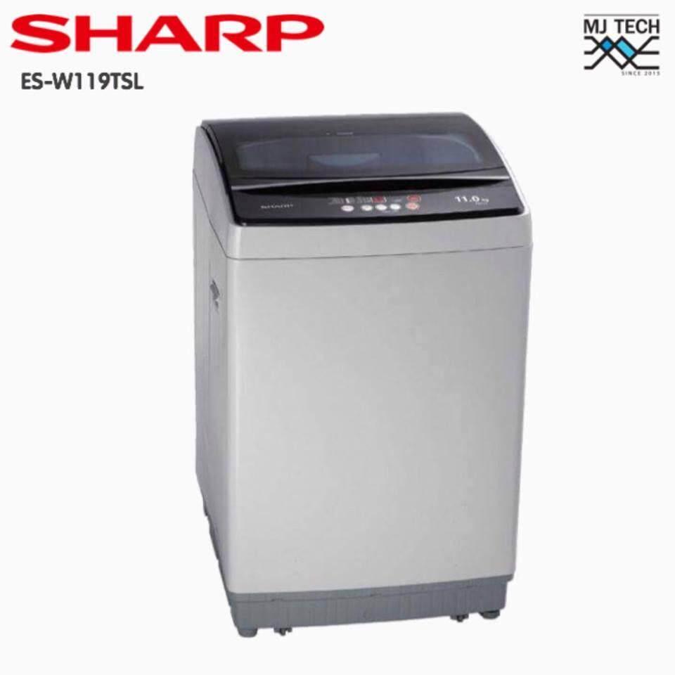 Sharp เครื่องซักผ้าฝาบน ขนาด 11 กก. รุ่น Es-W119t-Sl (ส่งฟรีทั่วไทย).
