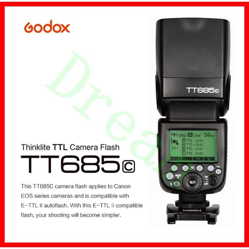ทบทวน ที่สุด Godox Tt685 Tt685C 2 4G Hss 1 8000S E Ttl Gn60 Ttl Wireless Flash Speedlite Compatible With Canon Camera Eos 400D Digital 450D 500D 550D 600D 650D 1000D 1100D 30D 40D 50D 60D 5D Mark Ii 5D Mark Iii 6D 7D
