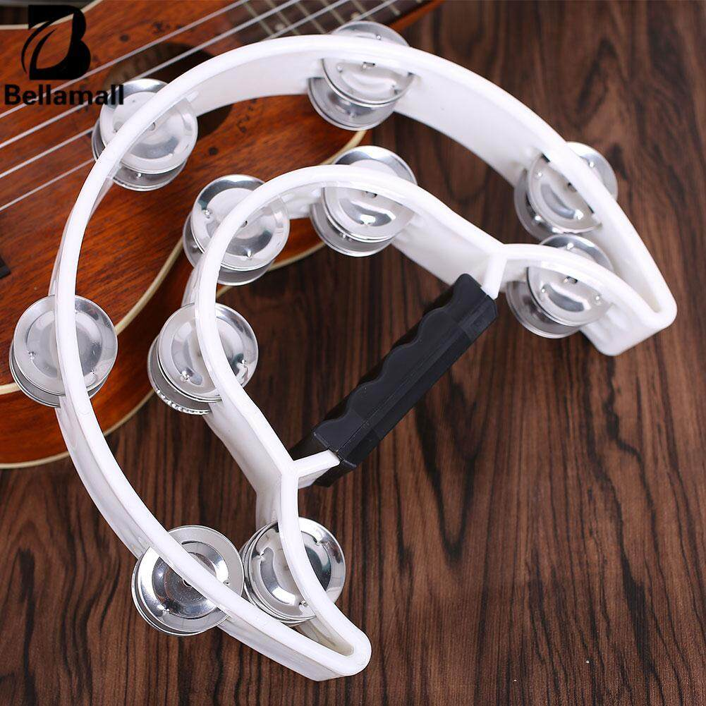 Bellamall:double Row Half Moon Music Instrument Tambourine Percussion Drum Jingles Durable - Intl By Bellamall.