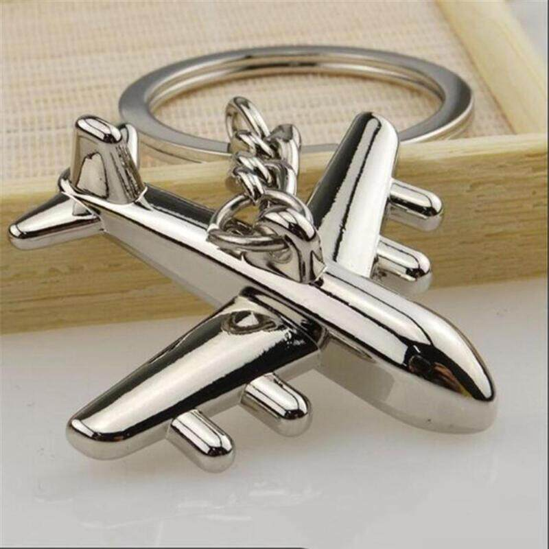 Unisex Fashion Creative Gifts Metal Motorcycle Airplane Model Key Chain Keyring By Charleybrewer.