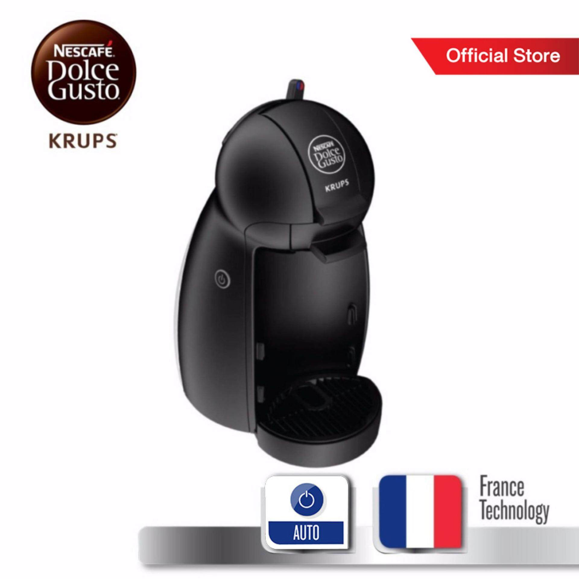 Nescafe Dolce Gusto (ndg) เครื่องทำกาแฟแคปซูล กำลังไฟ 1500 วัตต์ ความจุแท้งน้ำ 0.6 ลิตร รุ่น Piccolo Kp100b66 -Black By Tefal Official Store.