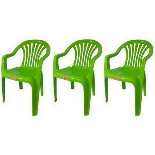 เช่าเก้าอี้ กรุงเทพ เก้าอี้สนาม มีพนักพิง และ ที่เท้าแขน รุ่น 999 สีเขียวมะนาว แพ็ค3ตัว