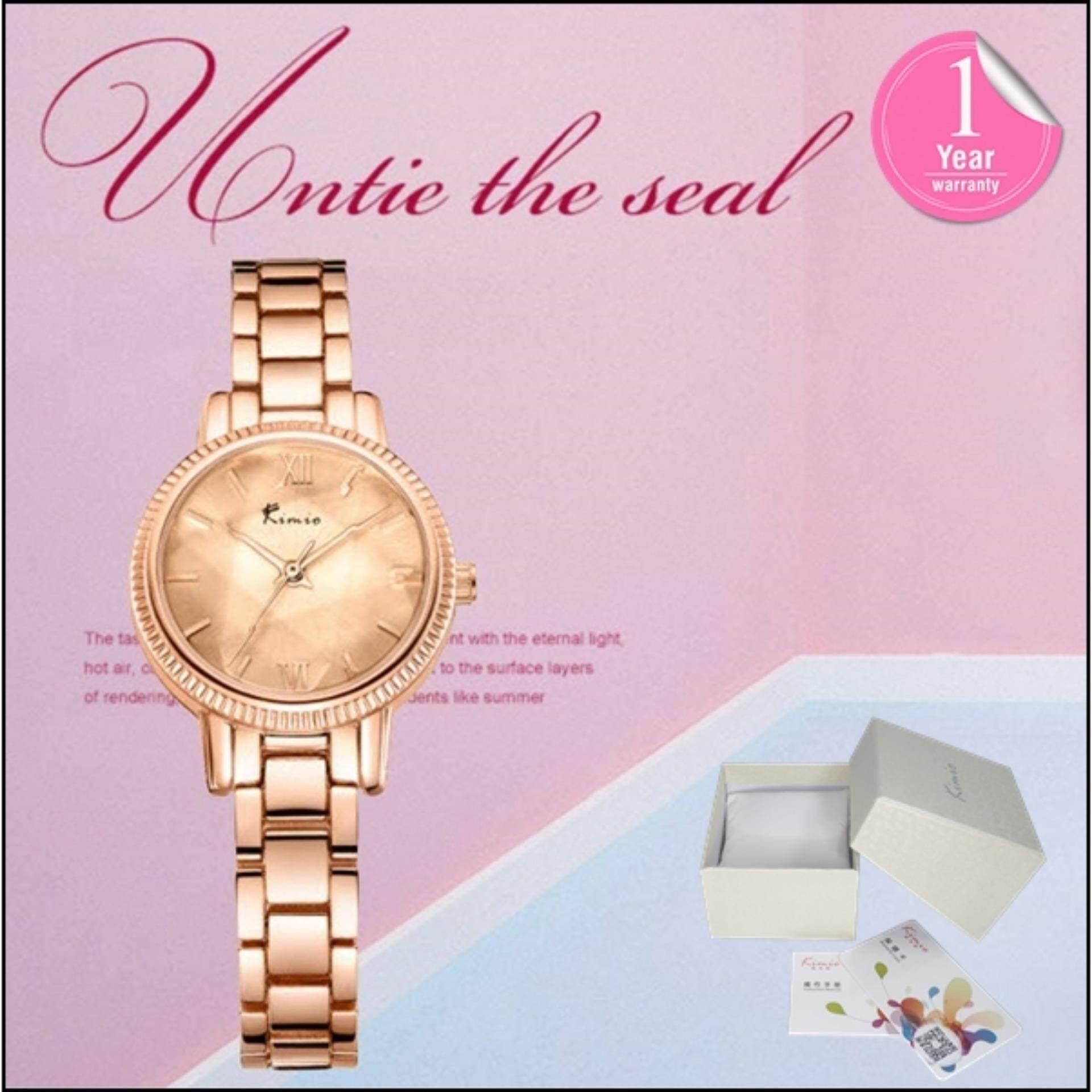 ส่วนลด Kimio นาฬิกาข้อมือผู้หญิง สายสแตนเลส สีโรสด์โกล์ด รุ่น Kw6139 สมุทรปราการ