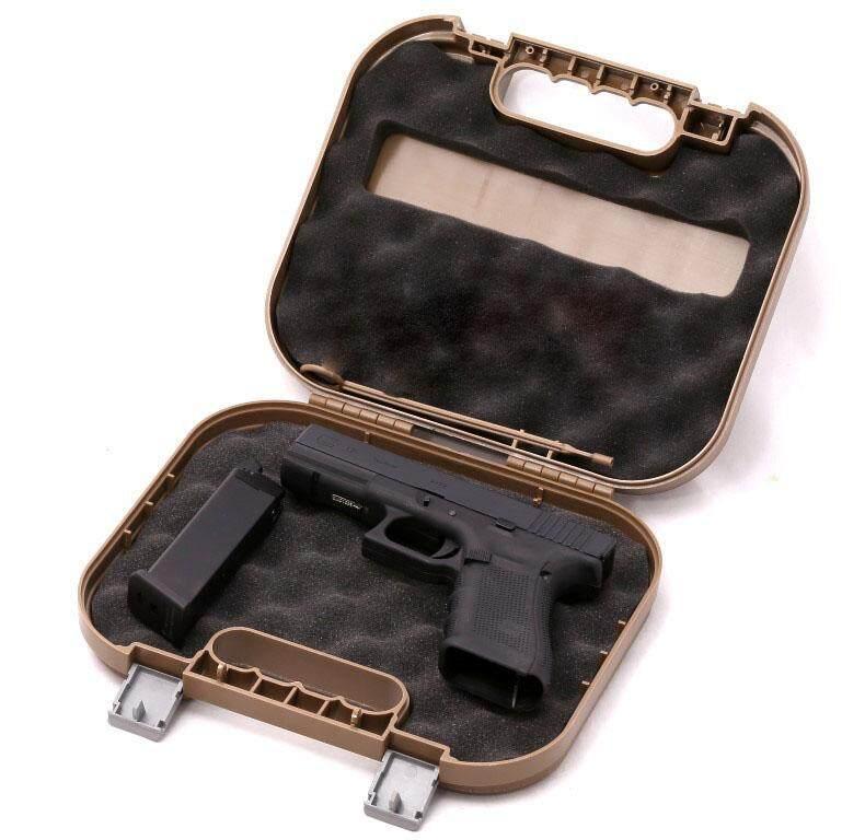 กล่องใส่ปืนสั้นไฟเบอร์ Glock Gun Case สีดำ.