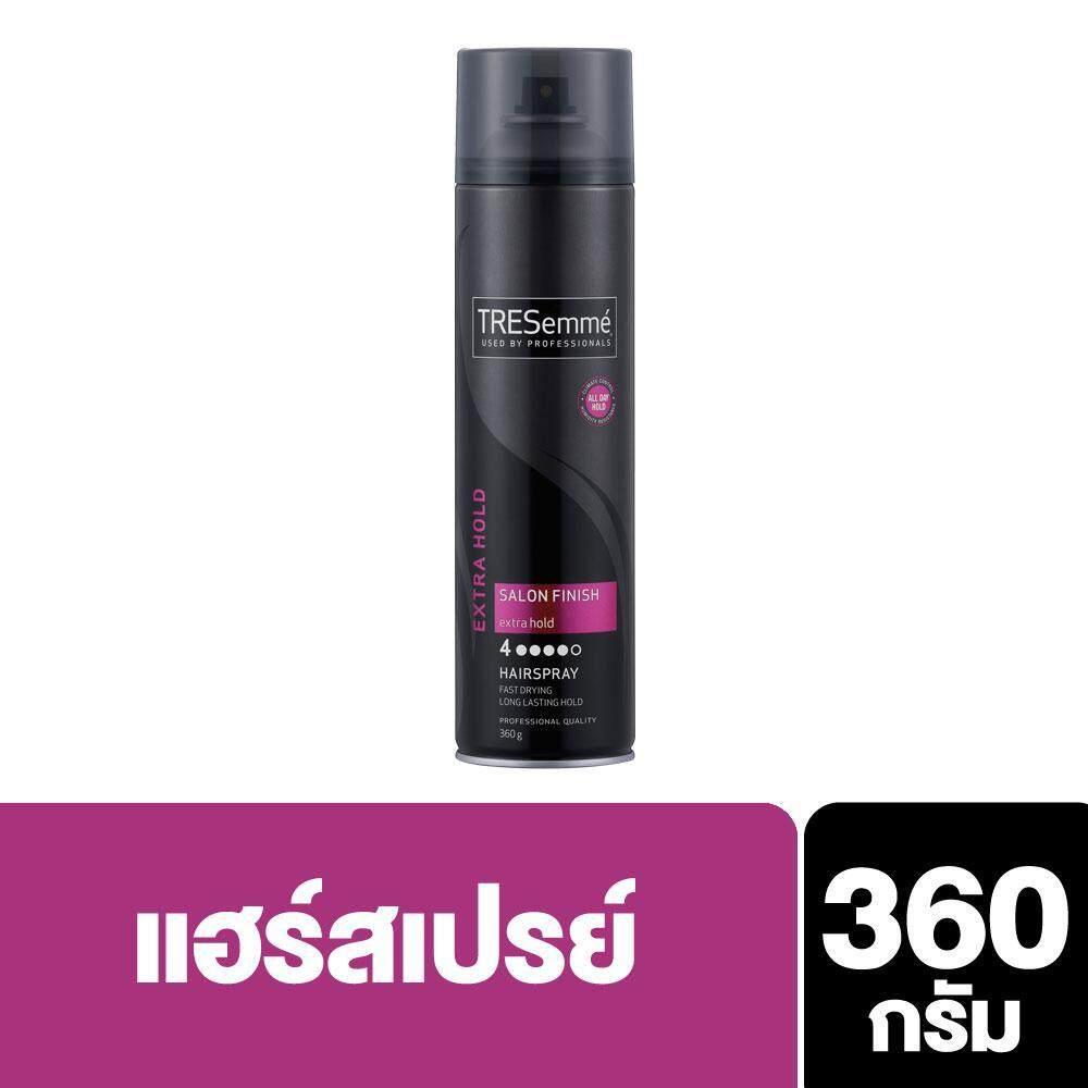 Tresemmé Hairspray Salon Finish Extra Hold (pink) 360 G., เทรซาเม่ แฮร์สเปรย์จัดแต่งทรงผม ซาลอน ฟินิช เอ็กซ์ตร้า โฮลด์ (สีชมพู) 360 กรัม By Unilever Thailand.