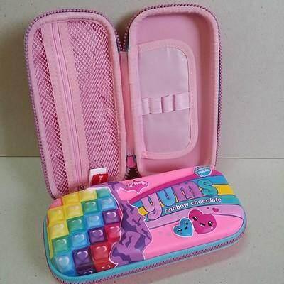 สุดยอดสินค้า!! ส่งฟรี kerry!!! ขาย กล่องดินสอสมิกเกิ้ล EVA กระเป๋าดินสอ กล่องดินสอ smiggle hardtop pencil case 3d 3ดี Rainbow chocolate