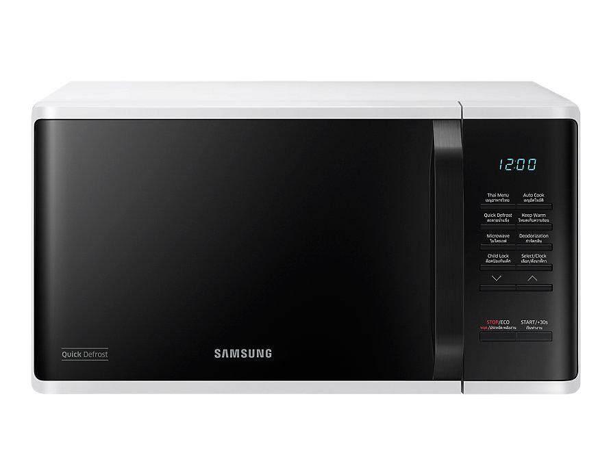 Samsung Microwave MS23K3513AW 23 ลิตร เตาอบไมโครเวฟ อุ่นอาหาร เคลือบสาร Ceramic Enamel