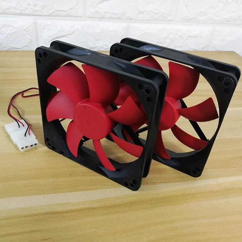 พัดลมระบายความร้อน Fan Case พัดลม12CM สีดำแดง