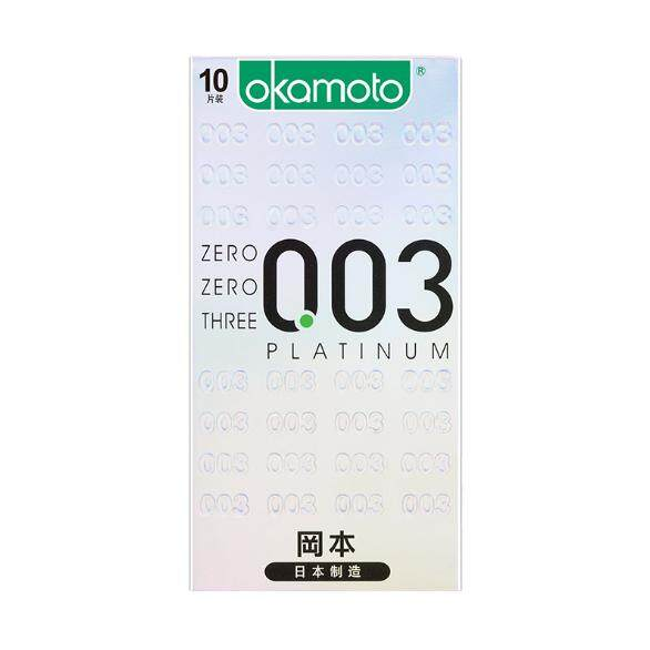 ถุงยางอนามัย โอกาโมโต้ 003 Condoms Japan 52 Mm (10ชิ้น/กล่อง) By Azura.