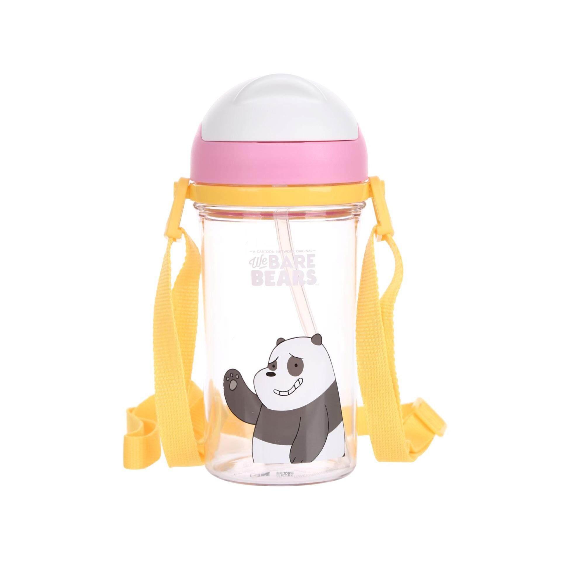 Miniso ขวดน้ำหมีอ้วน We Bare Bears พร้อมหลอด By Miniso Thailand Official.