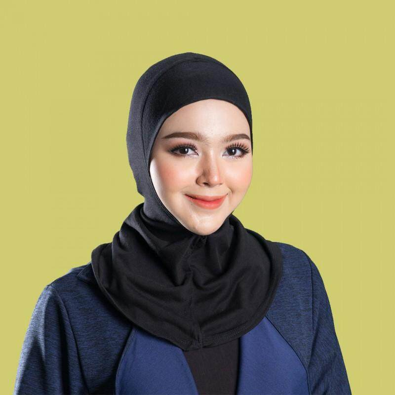 อินเนอร์คลุมผม ปิดคอสีดำ By Hannah Fashion Muslim.