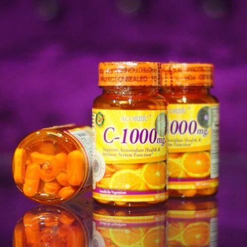 วิตามินซี Acorbic Vitamin C-1000mg Jp Natural Cosmetic 30 เม็ด By Starcosmeticth.