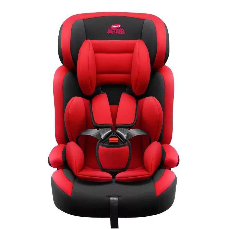 คาร์ซีท (car Seat) เบาะรถยนต์นิรภัยสำหรับเด็กขนาดใหญ่ ตั้งแต่อายุ 0 เดือน ถึง 12 ปี  สีแดง  Red.