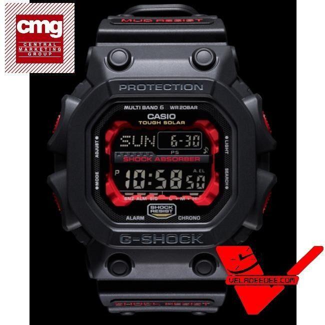 ราคา Casio G Shock ยักษ์ดำแดง Multiband ประกันCmg นาฬิกาข้อมือชาย สายเรซิ่น รุ่น Gxw 56 1A Casio G Shock เป็นต้นฉบับ