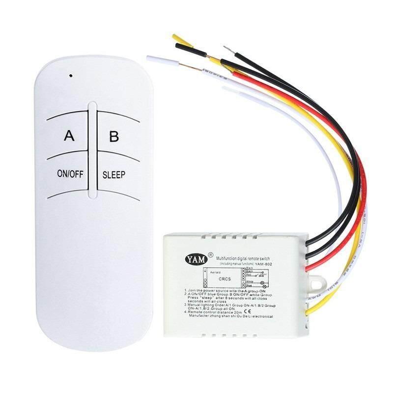 ส่วนลด 3 Ways สวิทซ์รีโมทเปิดปิดไฟเครื่องใช้ไฟฟ้าควบคุม 3 ช่องทาง Digital Wireless Wall Switch Remote Control Ac 200 240V สีขาว