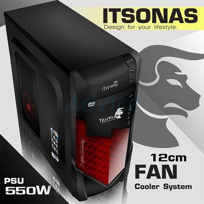 Atx Case Itsonas Taurus Kr (black-Red) By Mtc Shop.